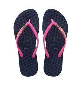 Havaianas Havaianas Womens Slim Brazil Sandal Navy Blue