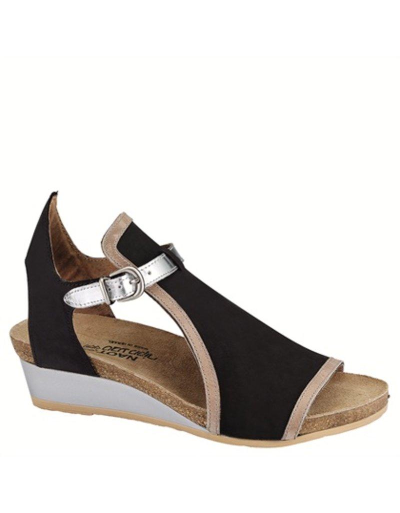 f8dc38d375e6 Naot Womens Fiona Black Velvet Khaki Silver - Island Comfort Footwear