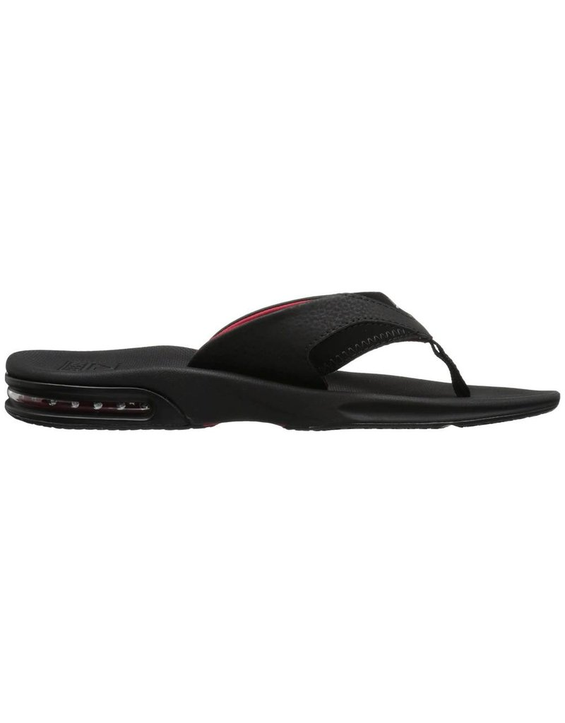 7d4b9853ce1e Reef Mens Fanning All Black Red - Island Comfort Footwear