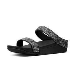 FitFlop FitFlop Womens Fino Quartz Slides Black
