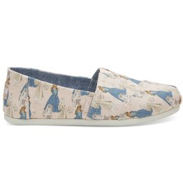 Toms Toms Womens Classic Pink Sleeping Beauty Printed Canvas