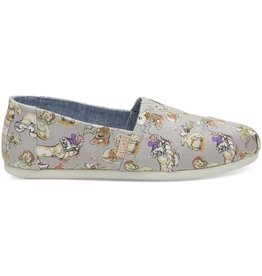 Toms Toms Womens Classic Grey Seven Dwarfs Printed Canvas
