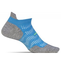 Feetures Feetures High Performance Ultra Light No Show Tab Tropical Blue