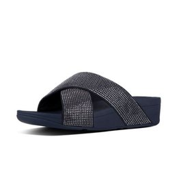 FitFlop FitFlop Womens Ritzy Slide Sandals Midnight Navy