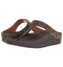 FitFlop FitFlop Womens Fino Quartz Toe-Thong Sandals Gold