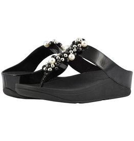 FitFlop FitFlop Womens Deco Toe Thong Sandals Black
