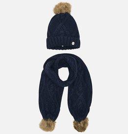 girl mayoral hat & scarf set