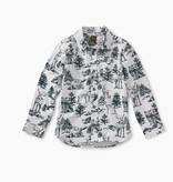 master forest toile button shirt