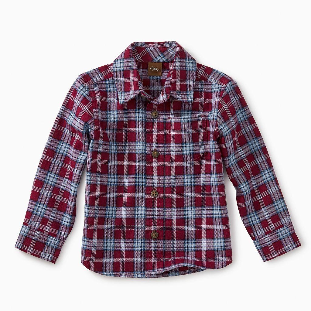 master lakeshore plaid baby btn shirt