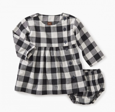 master checkered plaid baby dress