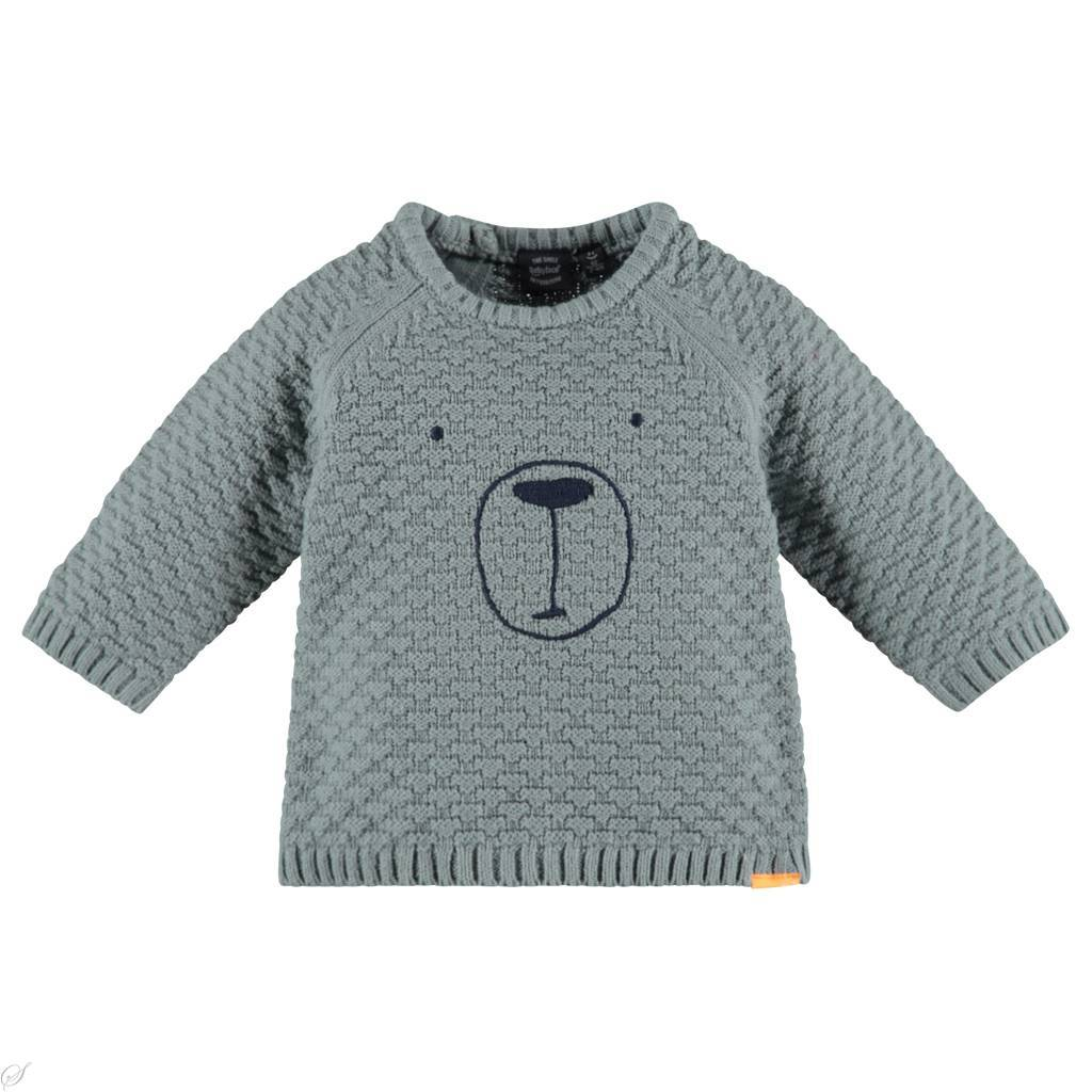 little boy babyface chunky knit sweater