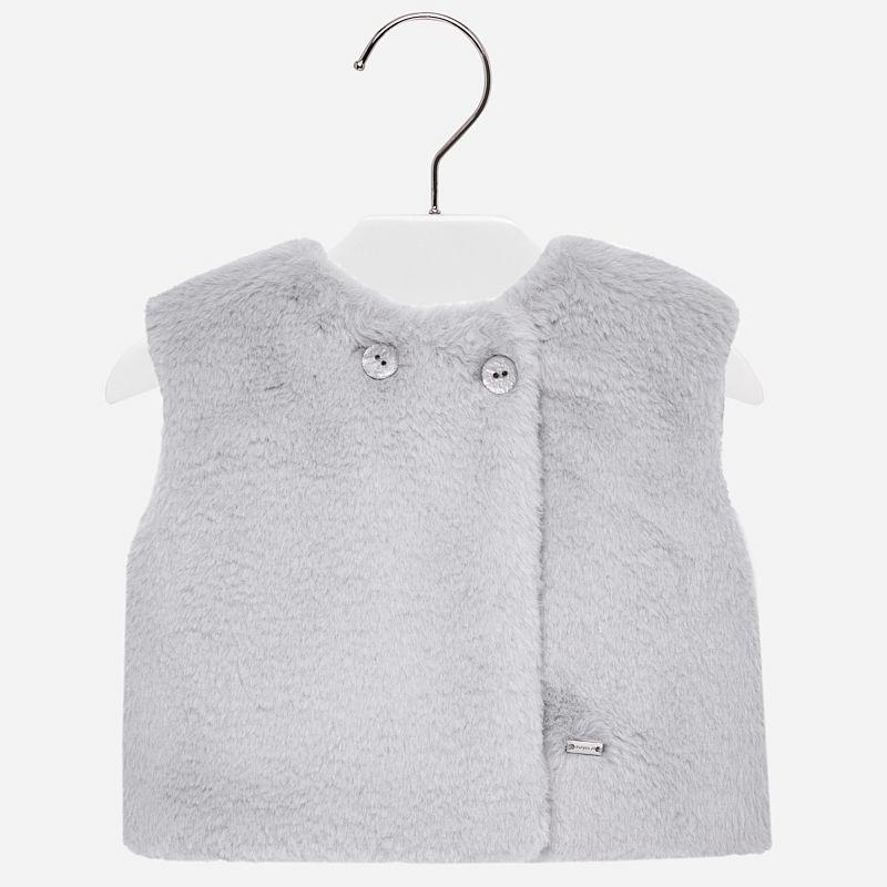 baby girl mayoral fur vest