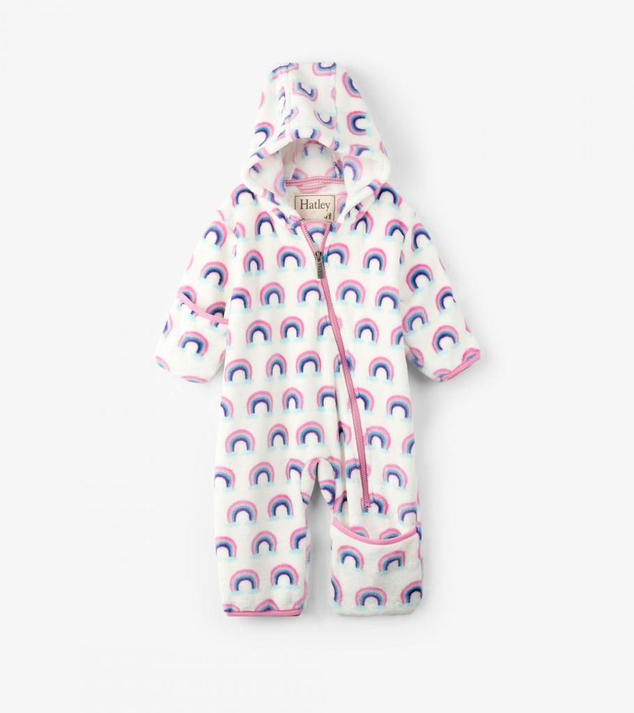 little one hatley fuzzy fleece bundler