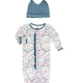 baby **sale** kickee pants converter gown + hat set