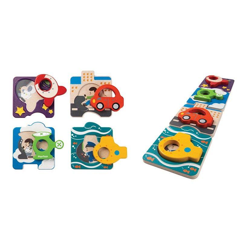 playtime plantoys vehicle puzzle 12m+