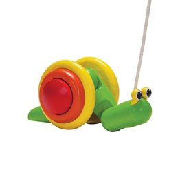 playtime plantoys pull-along snail 12m+