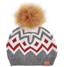 kid miles baby knit pom hat