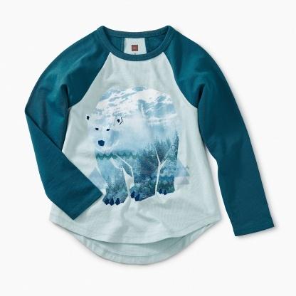 boy **sale** tea collection arctic bear raglan tee