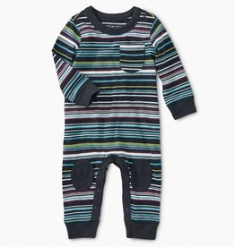 little boy tea collection striped knee patch romper