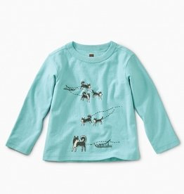 little boy tea collection sled pups graphic tee