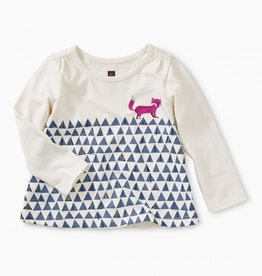 little girl tea collection fox trot graphic tee