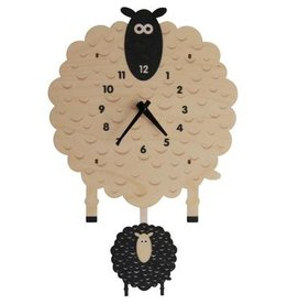 decor modern moose sheep pendulum clock