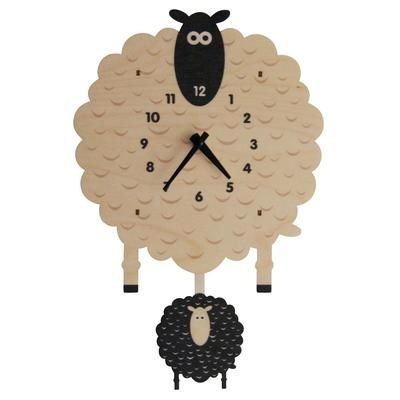 decor modern moose sheep pendulum clock