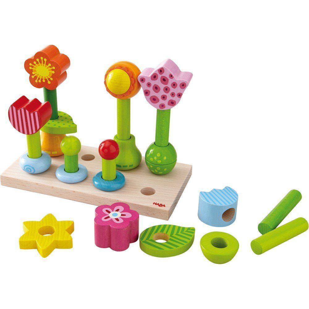 playtime flower garden peg game 18m+