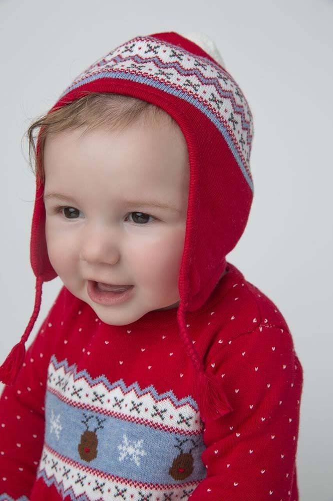 baby angel dear holiday knit pilot hat