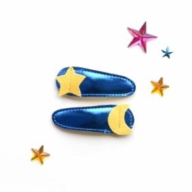 hair Hello shiso moon + star clips
