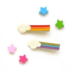 hair hello shiso rainbow clips