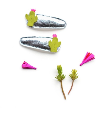 fashion accessory hello shiso cactus clips