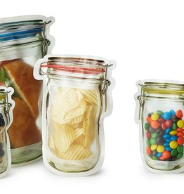 functional accessory mason jar zip bag, set of 4, small
