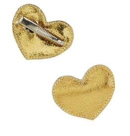 hair hello shiso big heart clip, gold