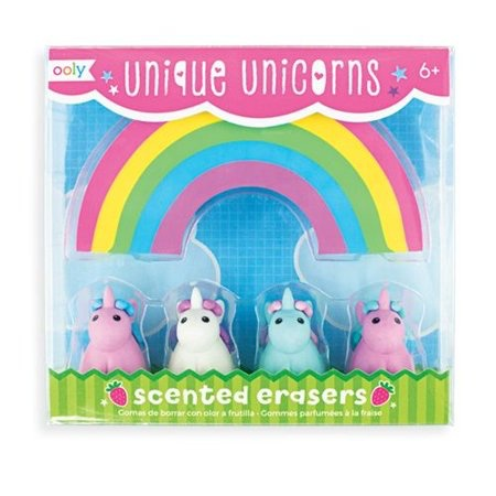 playtime unique unicorns scented erasers