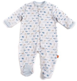 baby mag baby cotton footie, airplanes