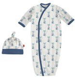 baby magnetic me modal gown & hat set (more colors)
