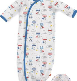 baby magnetic gown & hat set