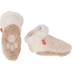 fashion accessory magnificent baby smart ombre fleece booties, cream