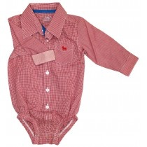 baby girl small check bodysuit