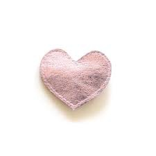 hair hello shiso big heart clip, pink