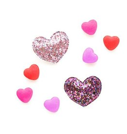 hair hello shiso glitter heart clip