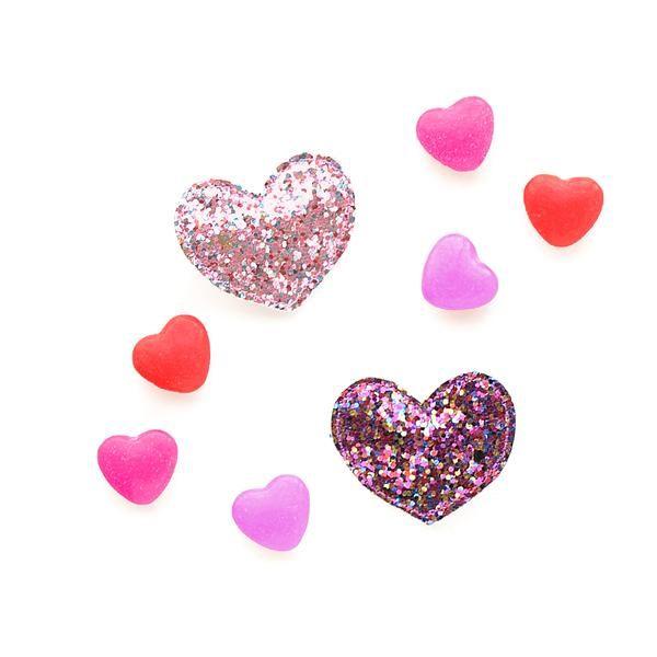 hair hello shiso glitter heart clip