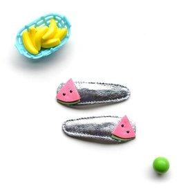 hair hello shiso watermelon clips