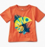 little boy tea collection chameleon baby graphic tee