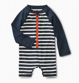 little boy stripe rashguard one-piece