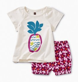little girl tea collection cheeky pineapple baby outfit