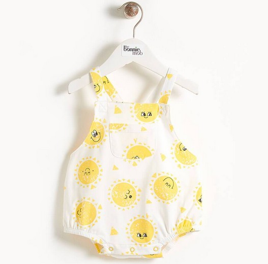 little one bonnie mob organic bubble romper