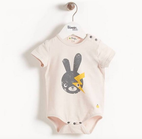 little one bonnie mob organic bodysuit