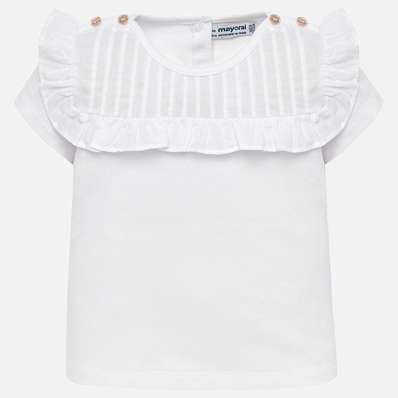 little girl mayoral ruffle tshirt